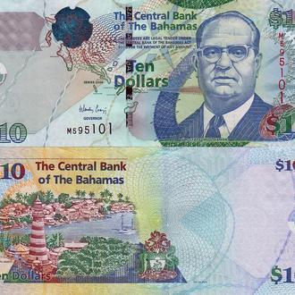 Багамы - 10 долларов 2009 UNC