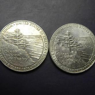 5 центів США 2005 Вихід до океану (два різновиди)