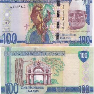 Gambia Гамбия 100 Dalasis  2015 UNC JavirNV