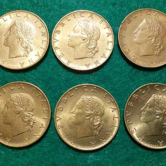 Италия 20 лир / 6 монет одним лотом / список в описании