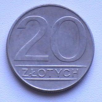 20 Злотих 1988 р Польща 20 Злотых 1988 г Польша
