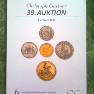 "Каталог монет ""Christoph Gartner"" (Германия), 2018 г. (160 стр.)"