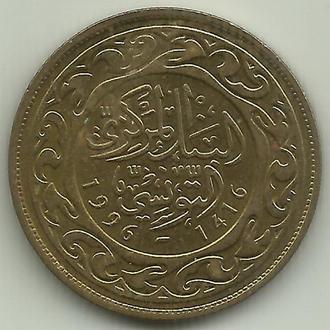 Тунис республика 100 миллимов 1996 UNC