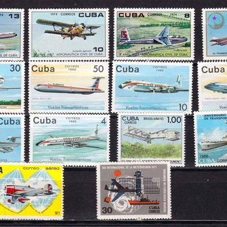Авиация . Куба  MNH - подборка
