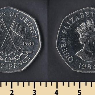 Джерси остров 50 пенсов 1985