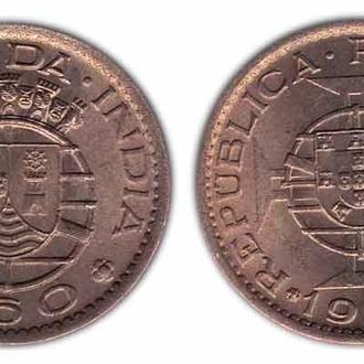 Португальская Индия 60 сентаво 1958 , состояние!