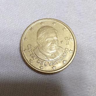 Монета, 50 євроцентів, Ватикан, папа Бенедикт