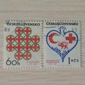 Чехословакия. The 50th Anniversary of Czech Red Cross and League of Red Cross Societies