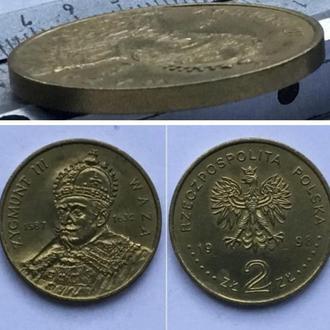 Польша 2 злотых, 1998г. Сигизмунд III Ваза (1587-1632) / Серия Польские правители