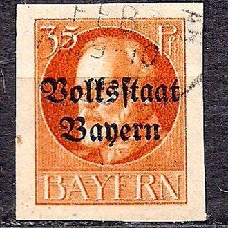 Бавария, немецкие земли, 1916-20гг., стандартный выпуск с надпечаткой