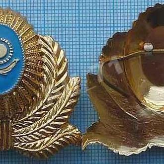 Кокарда Налоговая полиция. Республика Казахстан.