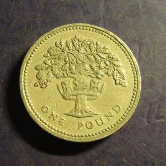 1 фунт 1987 Британія дуб