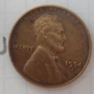США 1 цент 1954 года.
