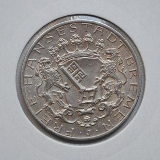 Бремен 2 марки 1904 г., РЕДКАЯ, СОСТОЯНИЕ