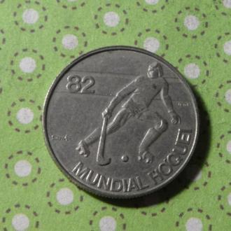 Португалия 1982 год монета 2,5 эскудо Хокей !