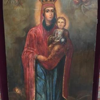 Храмовая Икона Богородицы по мотивам Боровиковского