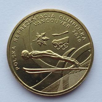 Польща 2 злотих (злотых) 2010    Польський Олімпійський представництво - Ванкувер