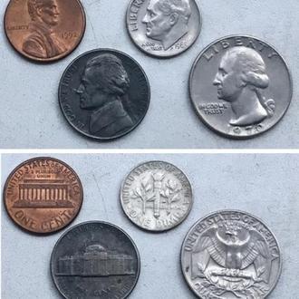 четыре монеты  = Одним лотом. США