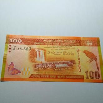 100 рупий 2015, Шри Ланка, пресс, unc, оригинал