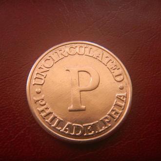 США жетон монетный двор ,,Р,, Филадельфия