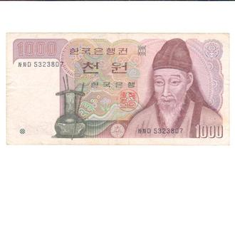 South Korea 1000 Won 1983