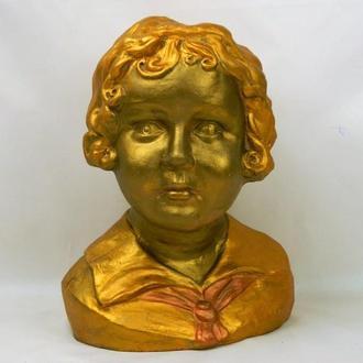 Глиняный бюст Пионерки, Скульптор Полина Свистун 1929г., высота 25 см