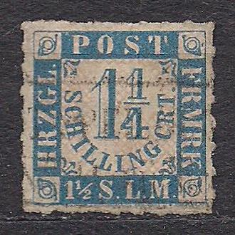 Немецкие земли, Scleswig-Holstein, 1864 г., первые марки, марка № 7