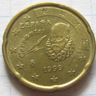Испания_ 20 евро центов 1999 года оригинал