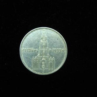 2 марки 1934 J. ,,Кірха з датою 1933,,  СТАН! 2 рейхсмарки