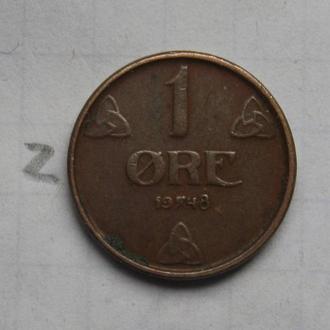 НОРВЕГИЯ, 1 эре 1948 года.