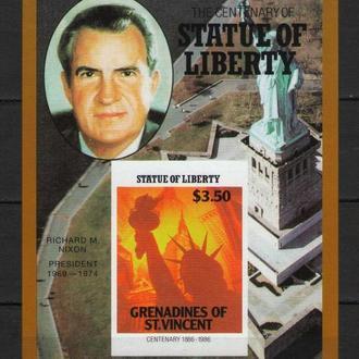 Гренадины 1986 Никсон Президент США Личности Блок бз MNH **