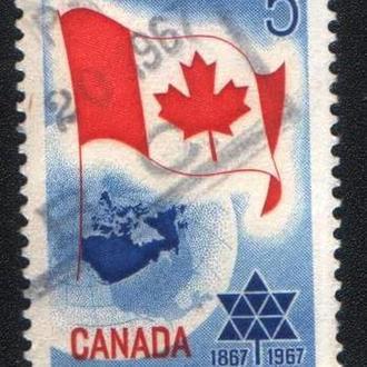 Канада (1967) Канадская конфедерация. Карта, флаг