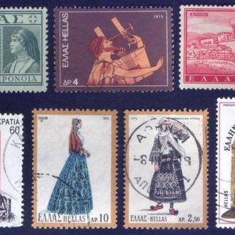 Греция. Подборка марок. 7 марок