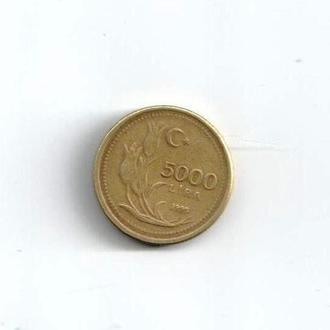 5000 лир Турция 1993 год