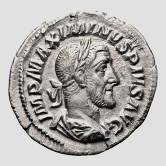 "(А)3493 - Максимин I (235—238 г.) АR Денарий ""Провидение"" aEF"