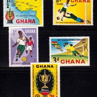 Футбол. Гана 1959 г MNH -