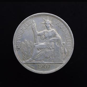 1 Пиастр 1907,(60) Индокитай
