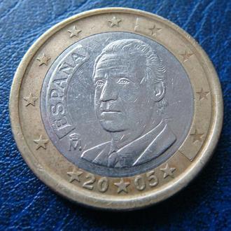 Испания 1 евро 2005