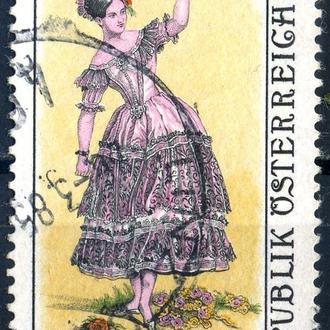 Австрия. Балерина Фанни Эльсслер (серия) 1984 г.