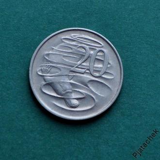Австралия 20 центов 1967