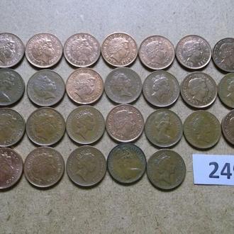 1 пенни  Великобритания  погодовка №249