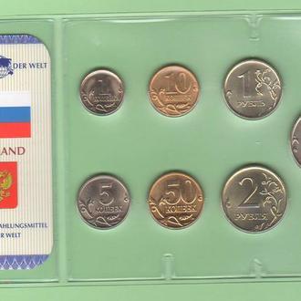 Набор монет РОССИЯ блистер запайка пластик