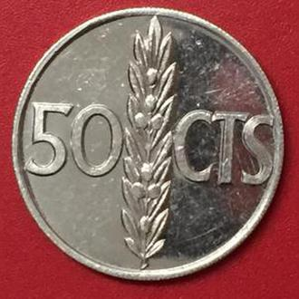 50 сентимо 1966 год Испания