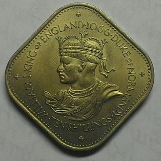 Гернси 10 шиллингов 1966 год  СОСТОЯНИЕ!!!