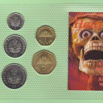 Набор монет ГАИТИ блистер запайка пластик