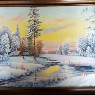 """Картина """"Зимушка - зима"""" (пейзаж), Божко А. И., 2011"""