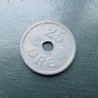 25 эре  Дания 1944 год. цинк