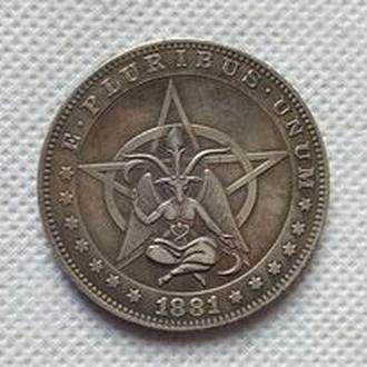 хобо доллар 1881 бафомет