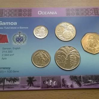 Набор монет САМОА пластик картон блистер запайка набір
