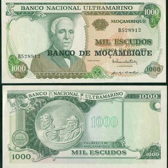 Мозамбик 1000 эскудо 1972 UNC